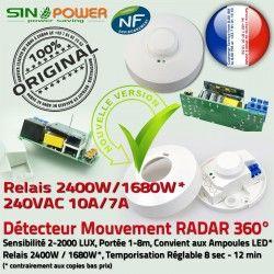 Lampes Radar HF Micro-Ondes Ampoules Relais Hyperfréquence Éclairage Luminaire Capteur 360° de Mouvement Automatique LED Détecteur