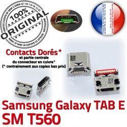 TAB-E SLOT charge Connector MicroUSB Dorés Samsung souder SM-T560 USB à TAB ORIGINAL Qualité Fiche E SM Dock Pins T560 Chargeur de Prise Galaxy