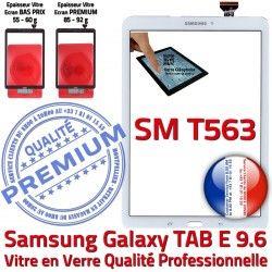 Galaxy 9.6 T563 Supérieure Prémonté TAB SM-T563 PREMIUM Samsung SM Qualité Blanc B TAB-E Ecran E Assemblée Verre Adhésif Vitre Tactile Blanche