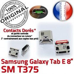 Tab-E Dock Pins charge de Galaxy Samsung Dorés SLOT Chargeur TAB-E MicroUSB ORIGINAL Fiche à souder USB Connector SM-T375 Prise Qualité