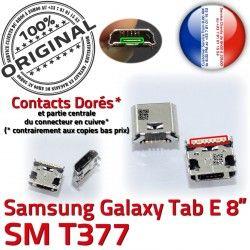 Samsung SM à Pins TAB Chargeur Connecteur de charge USB inch ORIGINAL souder Prise Dorés Micro 8 Connector Galaxy E Dock Tab T377