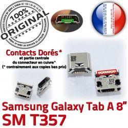 souder Dorés T357 Tab SM Connector charge Micro à 8 USB de Galaxy ORIGINAL Prise inch A Pins Samsung Chargeur Connecteur TAB Dock
