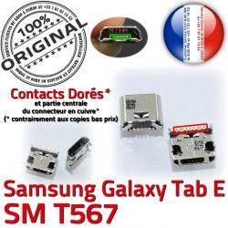 SM-T567 USB de à E ORIGINAL Qualité Connector Dock Chargeur SM SLOT MicroUSB Samsung TAB T567 souder TAB-E Dorés Prise Galaxy Pins Fiche charge