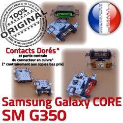 à Pins Micro Prise Dorés SM-G350 Qualité Connecteur souder charge Core G350 SM Chargeur USB ORIGINAL Plus Samsung de Charge Galaxy Connector