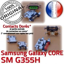 PORT Core Samsung de Prise Micro Pins Dorés Galaxy USB Connecteur G355H SM à Charge Chargeur souder Qualité ORIGINAL SM-G355H 2 Connector charge