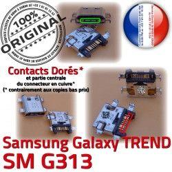 SM Samsung S Dorés souder Qualité Prise SM-G313 Connecteur Pins charge DUOS G313 de Charge Micro Chargeur USB Connector ORIGINAL TREND Galaxy à