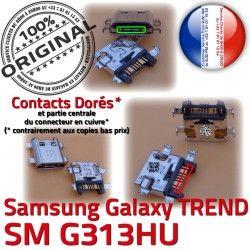 Dorés Fiche G313HU Connector ORIGINAL Galaxy souder SM MicroUSB Dock SM-G313HU S Micro de USB TREND à Qualité charge Prise DUOS Pins Samsung Chargeur