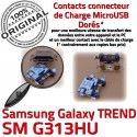 TREND DUOS SM-G313HU USB Charge Pins Connector charge ORIGINAL souder Qualité Galaxy à Prise Dorés de Connecteur G313HU SM Chargeur Micro Samsung