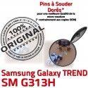 TREND S DUOS SM-G313H USB Charge Qualité Connector Galaxy Chargeur Dorés SM Connecteur Prise Micro ORIGINAL souder charge Samsung G313H Pins de à