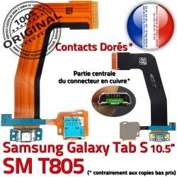 TAB-S ORIGINAL TAB Qualité T805 Samsung USB SM-T805 Galaxy Charge Connecteur Contacts Réparation SM SD Micro S Lecteur de Dorés Chargeur Nappe
