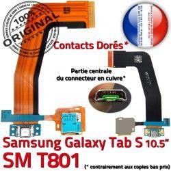 Galaxy Nappe TAB-S SM Mémoire TAB Lecteur de Qualité Connecteur Samsung S USB PORT Chargeur SM-T801 Micro Charge ORIGINAL T801 SD Carte