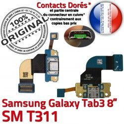 Contacts USB OFFICIELLE ORIGINAL de Micro TAB3 Qualité Galaxy Dorés T311 Réparation Connecteur 3 Chargeur Nappe MicroUSB TAB Samsung Charge SM-T311 SM