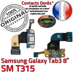 de TAB3 Chargeur Galaxy Samsung OFFICIELLE Connecteur 3 ORIGINAL Contacts TAB Nappe SM-T315 Charge Qualité Ch Réparation Dorés MicroUSB