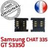 Samsung Chat 335 GT s3350 S Card à Lecteur Prise Connector OR souder ORIGINAL Dorés Connecteur Carte Pins SLOT SIM Reader Contacts