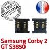 Samsung Corby 2 GT s3850 S SLOT Pins Lecteur souder Card Reader ORIGINAL Contacts à OR Carte Connecteur Prise Connector Dorés SIM