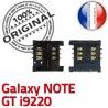 Samsung Galaxy Note GT i9220 S Contacts Dorés SIM souder ORIGINAL Pins Card Lecteur à Reader Connector Carte Connecteur SLOT