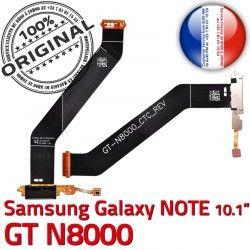 ORIGINAL Ch de N8000 Connecteur Chargeur Qualité GT-N8000 Galaxy NOTE Micro Réparation Charge OFFICIELLE USB Dorés Nappe GT Samsung Contacts