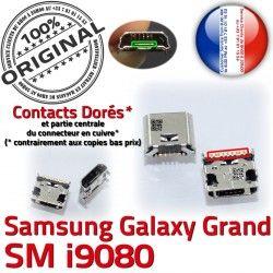 MicroUSB Qualité souder ORIGINAL SLOT Prise Connector Dorés GT-i9080 Pins USB Grand Galaxy à Dock charge de Chargeur Samsung Fiche