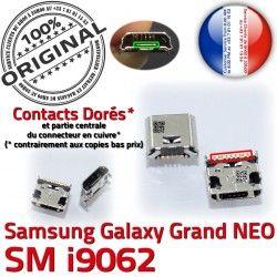 SLOT souder Samsung Galaxy USB Dock Prise Pins NEO MicroUSB Chargeur Fiche GT-i9062 Qualité à ORIGINAL Grand Connector charge Dorés