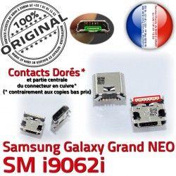 Galaxy Qualité Pins souder MicroUSB USB Samsung GT-i9062i Fiche Chargeur SLOT Prise ORIGINAL Grand NEO charge Connector Dock à Dorés