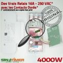 Contacteur Turbine 16A électrique Digital Programmation Journalière 4kW DIN Tableau Rail Commande 4000W Electronique Automatique Pompe
