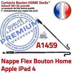 Qualité Nappe Home Réparation Accueil Flex Autocollant 4 Remplacement Tablette iPad Châssis Adhésif iPad4 Apple Poussoir Bouton A1459