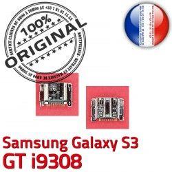 i9308 de Dorés Galaxy USB Samsung S3 Pins C GT Chargeur Prise Flex Micro charge Connector souder Dock Connecteur à ORIGINAL
