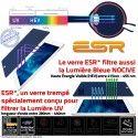 Verre Trempé Apple iPad A1709 Protection PRO Oléophobe Chocs Filtre ESR Lumière Vitre UV Anti-Rayures Multi-Touch Ecran Bleue