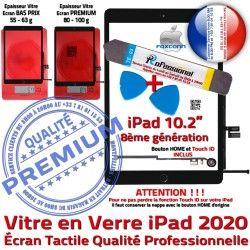 Vitre Tablette A2429 Démontage iPad Bouton Nappe HOME PREMIUM A2430 A2270 2020 PACK Adhésif N A2428 Verre Noire Réparation KIT Qualité Tactile Precollé Outil