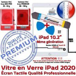 Vitre iPad Qualité Nappe Adhésif Réparation Bouton A2430 Precollé A2429 HOME KIT Tactile Outil B 2020 A2428 Tablette PACK A2270 Blanche Verre Démontage PREMIUM