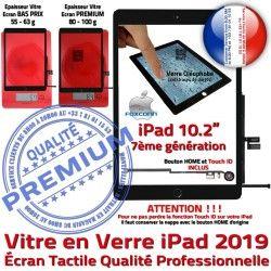 A2197 Adhésif A2200 Noir PREMIUM Ecran A++ Remplacement iPad Bouton Vitre HOME 2019 Verre Oléophobe Precollé Qualité Fixation Caméra A2198 Tactile