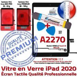 2020 Vitre Réparation KIT Tactile Adhésif iPad Precollé Verre PACK Démontage Outils PREMIUM Qualité Noire Oléophobe HOME A2270 Bouton N