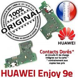 Connecteur ORIGINAL Micro Prise Microphone Huawei OFFICIELLE Téléphone Antenne Enjoy Nappe Charge Chargeur Qualité USB RESEAU 9e