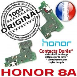 Prise Antenne Microphone JACK RESEAU Qualité USB PORT Téléphone Charge OFFICIELLE Micro Honor Nappe 8A ORIGINAL Chargeur Câble