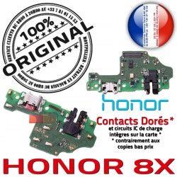 Honor 8X Chargeur PORT USB Prise OFFICIELLE Téléphone Charge Câble Microphone Qualité ORIGINAL Antenne Nappe JACK Micro RESEAU
