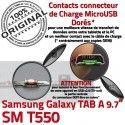 SM-T550 TAB A Micro USB Charge T550 Connecteur Contact OFFICIELLE SM Samsung MicroUSB Réparation Chargeur Qualité Doré Nappe de ORIGINAL Galaxy