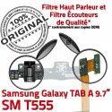 Samsung Galaxy TAB A SM-T555 HP Réparation OFFICIELLE Chargeur HOME Connecteur ORIGINAL SM Charge T555 Haut Bouton Nappe Flex Parleur de