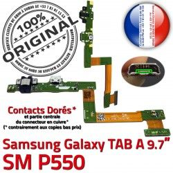 SM-P550 MicroUSB A Nappe Charge ORIGINAL Doré de SM Chargeur Réparation Samsung TAB P550 Galaxy OFFICIELLE Contact USB Connecteur Qualité Micro