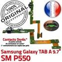 SM-P550 TAB A Jack Ecouteurs SM Samsung Charge Réparation MicroUSB ORIGINAL HOME Bouton Nappe Galaxy Connecteur Casque Chargeur P550