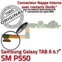 Samsung Galaxy TAB A SM-P550 HP Réparation ORIGINAL Connecteur Bouton P550 Nappe Chargeur HOME Charge SM Haut OFFICIELLE de Parleur Flex