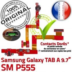P555 Nappe Charge SM-P555 SM Qualité ORIGINAL C A Connecteur TAB Chargeur OFFICIELLE Doré Galaxy Contacts Micro USB Samsung Réparation de