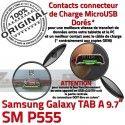 Samsung Galaxy TAB A SM-P555 C Connecteur Chargeur MicroUSB SM Contact Réparation P555 de OFFICIELLE Charge Qualité Doré ORIGINAL Nappe