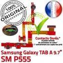 SM-P555 TAB A Jack Ecouteurs Connecteur HOME MicroUSB Nappe P555 ORIGINAL Charge Réparation Chargeur Samsung SM Casque Bouton Galaxy