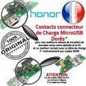 Honor 6X Charge Rapide USB OFFICIELLE Prise Qualité Nappe Câble Microphone Antenne Chargeur Connecteur ORIGINAL Micro RESEAU