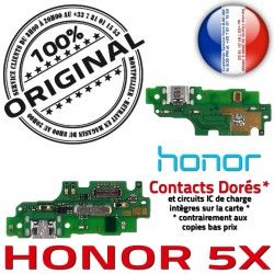 ORIGINAL GSM Qualité PORT Honor Microphone SMA Nappe Charge OFFICIELLE USB Prise Téléphone Huawei Connecteur Chargeur Antenne 5X