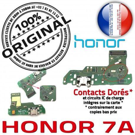 Honor 7A JACK AUDIO Câble Charge ORIGINAL Téléphone Antenne Audio USB Nappe Microphone Qualité Micro Casque Chargeur OFFICIELLE PORT