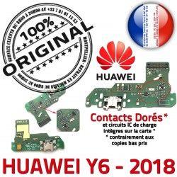 Téléphone Qualité Charge USB Huawei Antenne PORT OFFICIELLE RESEAU Prise Connecteur Nappe Y6 2018 Chargeur ORIGINAL Microphone