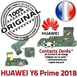 Prise DOCK Connecteur RESEAU 2018 Huawei Chargeur Qualité ORIGINAL Microphone Y6 USB Prime Antenne Nappe Charge OFFICIELLE Micro
