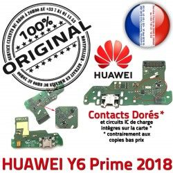 Microphone Micro Antenne Branchement 2018 DOCK PORT Huawei Câble JACK Y6 USB de ORIGINAL Téléphone Chargeur Nappe Prime Charge