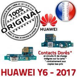 Chargeur RESEAU de USB PRO PORT Microphone Nappe Y6 Huawei ORIGINAL Charge Connecteur JACK Micro Qualité Câble Prise 2017 Antenne